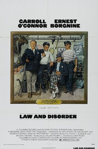 Law and Disorder (1974 film) - Theatrical release poster