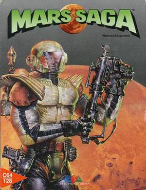 Mars Saga - The C64/128 Mars Saga box art.