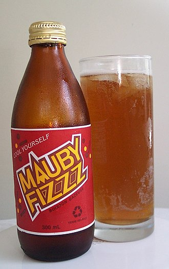 Mauby - A bottle of Mauby Fizzz produced by Pepsi
