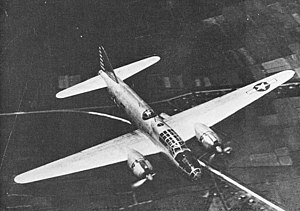 "Medium bomber - The Japanese Mitsubishi G4M ""Betty"", a medium bomber (captured and tested by U.S. forces)."