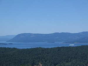 Pender Island - A view from the peak of Mount Norman (on South Pender Island) - the highest peak on either of the Pender Islands.