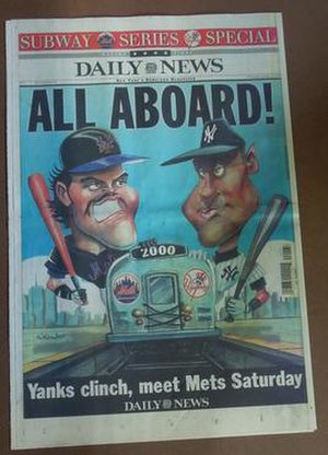 2000 World Series - Image: NY Daily News WS2000