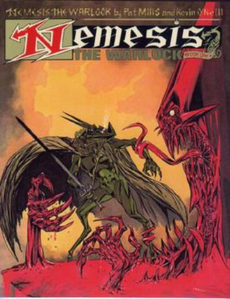 Nemesis the Warlock - Cover of Nemesis the Warlock trade paperback collected edition. Art by Kevin O'Neill.