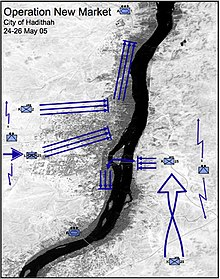 Map of Haditha Iraq showing USMC maneuver elements.