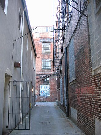 Old City, Knoxville - This alley off of South Central Street is home to several apartments.