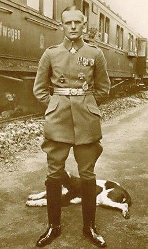 Otto Parschau - Photo of Leutnant Otto Parschau just after earning the Pour le Mérite