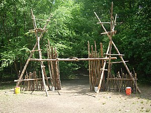 Pioneering (Scouting) - A decorative camp gateway