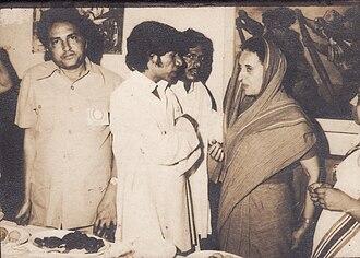 Arun Krushnaji Kamble - Prof. Arun Kamble discussing some issues with Former Prime minister Mrs. Indira Gandhi