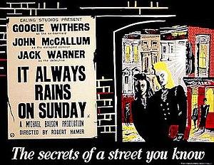 It Always Rains on Sunday - Original British quad poster