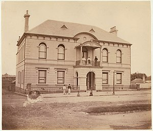 Redfern Town Hall - Image: Redfern Town Hall, 1871 by Charles Pickering