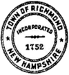 Official seal of Richmond, New Hampshire