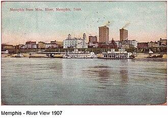 University of Memphis, School of Law campus - Image: River view Memphis 1907