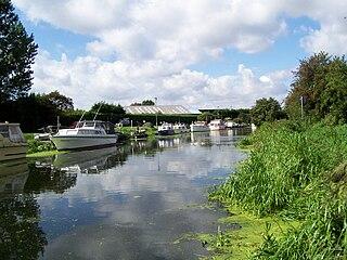 River Ancholme river in Lincolnshire, England