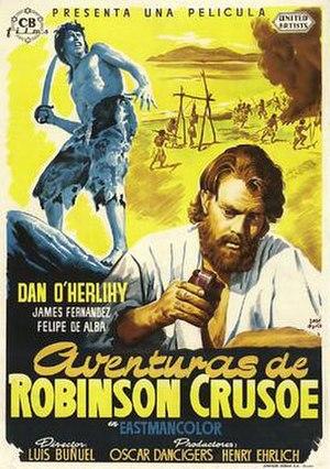 Robinson Crusoe (1954 film) - Robinson Crusoe Spanish poster