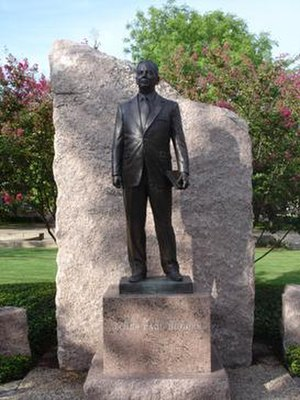 History of Texas A&M University - Statue erected on the TAMU campus in honor of James Earl Rudder.
