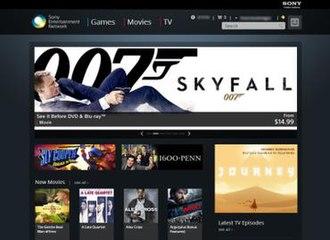 Sony Entertainment Network - Image: SEN Store Screenshot
