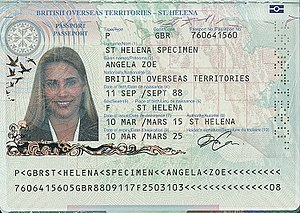 British passport (Saint Helena) - Saint Helena passport information page