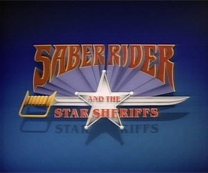 Saber Rider and the Star Sheriffs - Screenshot of the title screen from Saber Rider and the Star Sheriffs