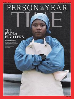 "Salome Karwah - Time magazine's 2014 ""Person of the Year"" with Karwah on the cover."