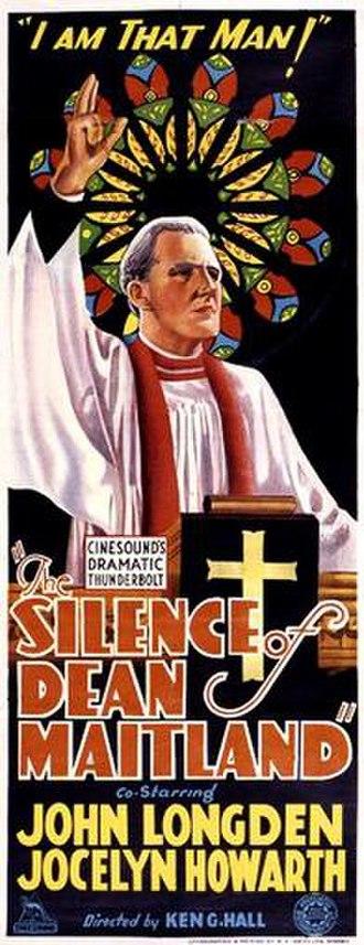The Silence of Dean Maitland (1934 film) - Image: Silence of Dean Maitland