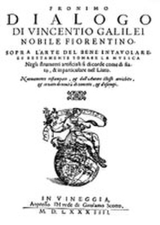 Fronimo Dialogo - Front cover of the Fronimo Dialogo.