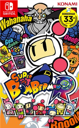 Super Bomberman R - Packaging artwork for the Switch version
