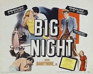 The Big Night (1951 film) - Theatrical release lobby card