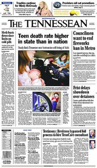 The Tennessean - Image: The Tennessean front page