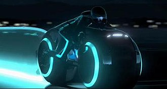 Tron (franchise) - The redesigned Light cycle as featured in the Comic-Con VFX test footage.