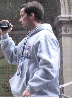 Lawrence Tynes - Tynes at the Giants Super Bowl Ticker Tape parade in NYC on February 5, 2008.