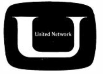 Overmyer Network - Logo for the United Network, as seen in a trade ad in the April 3, 1967 issue of Broadcasting magazine.