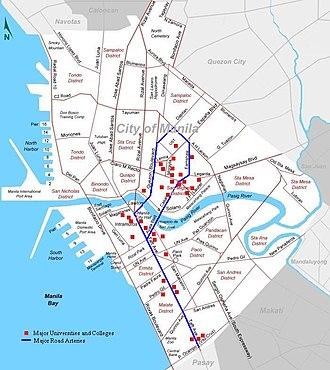 University Belt - University belt including Taft Avenue and Intramuros