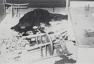 Viale Lazio massacre - The body of Michele Cavataio after the hit in Viale Lazio.