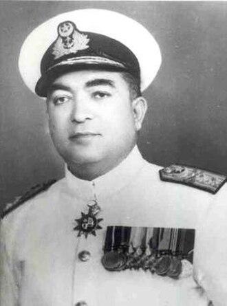 Chief of Naval Staff (Pakistan) - Image: Vice Admiral Afzal Rahman Khan