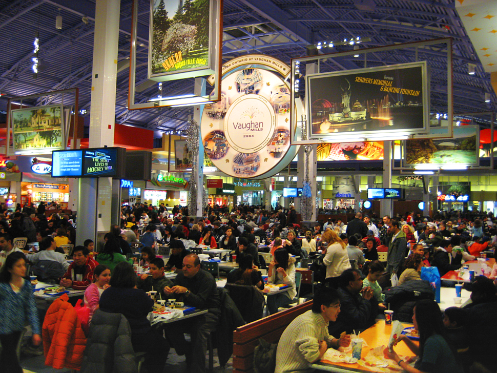 The Vaughan Mills food court during Boxing Day.