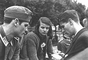 Members of the White Rose, Munich 1942. From l...