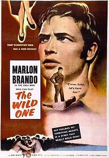 <i>The Wild One</i> 1953 outlaw biker film directed by László Benedek