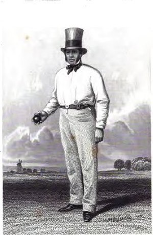 William Clarke's All-England Eleven - William Clarke in 1845.