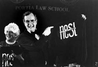 New England Law Boston - President George H. W. Bush at the 75th Anniversary of NESL