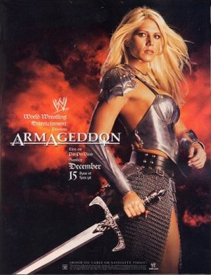 Armageddon (2002) - Promotional poster featuring Torrie Wilson