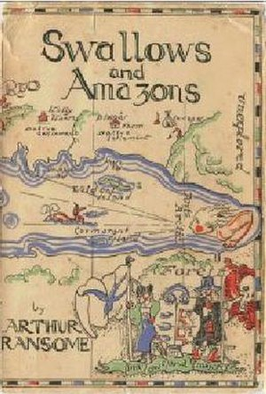 Swallows and Amazons - First edition dust jacket cover 1930