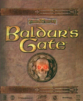 Dungeons & Dragons-related products - Image: Baldur's Gate box