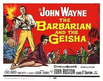 The Barbarian and the Geisha - Theatrical release half-sheet display poster