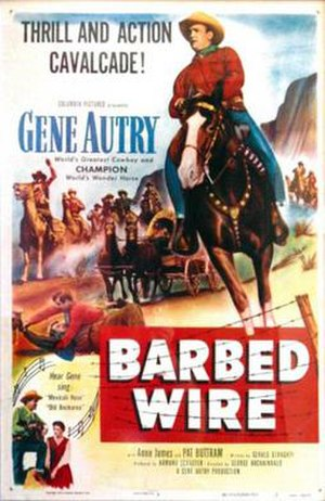 Barbed Wire (1952 film) - Image: Barbed Wire Poster