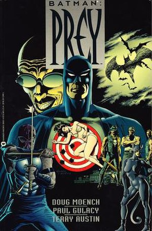 Batman: Prey - Cover to Batman: Prey trade paperback, 1st printing, 1993. Art by Paul Gulacy and Terry Austin.