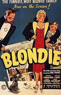 <i>Blondie</i> (1938 film) 1938 movie and first of a series of movies based on the comic strip Blondie directed by Frank R. Strayer
