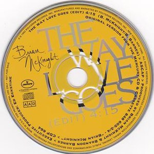 The Way Love Goes (Brian McKnight song) - Image: Brian Mcknight Way Love Goes single cover