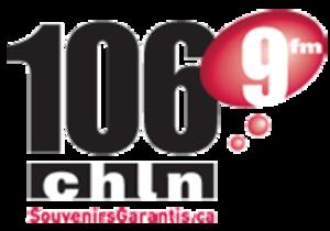 "CKOB-FM - CHLN logo as a ""Souvenirs Garantis"" station, 2009-2011."