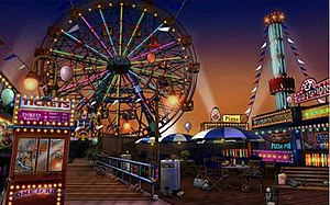 CSI: NY (video game) - Ferris Wheel at Coney Island Boardwalk.