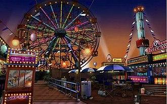 CSI: NY (video game) - Ferris Wheel at Coney Island Boardwalk.